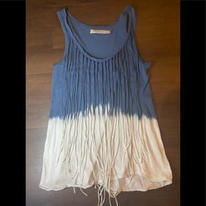 Zara collection tie dye fringe tank - S